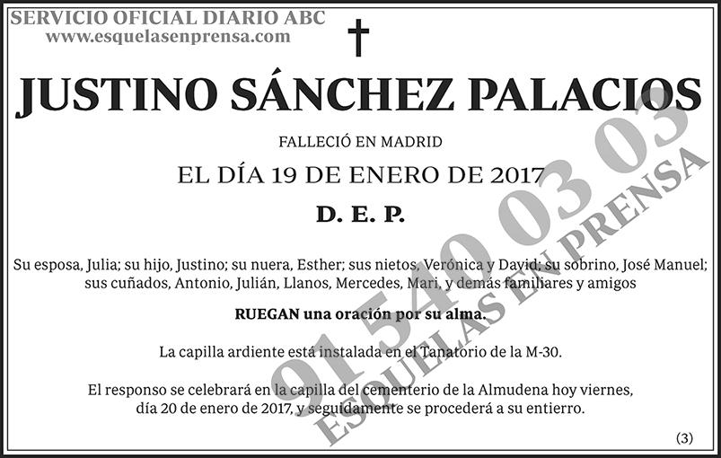 Justino Sánchez Palacios